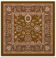 rug #1304947 | square mid-brown borders rug