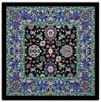 rug #1304999 | square black damask rug