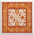 rug #1305011 | square orange natural rug