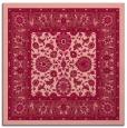 rug #1305031 | square pink damask rug