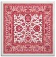 rug #1305035 | square pink damask rug