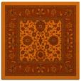 rug #1305071 | square red-orange natural rug