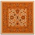 rug #1305075   square red-orange damask rug