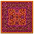 rug #1305079 | square red-orange borders rug