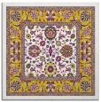 rug #1305123   square yellow borders rug
