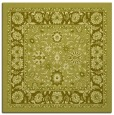 rug #1305135 | square light-green borders rug