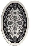rug #1305167 | oval white rug