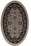 rug #1305175 | oval beige traditional rug