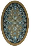 rug #1305191 | oval black traditional rug