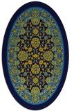 rug #1305195 | oval blue borders rug