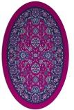 rug #1305199 | oval pink borders rug