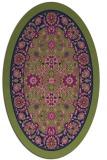 rug #1305207 | oval green borders rug