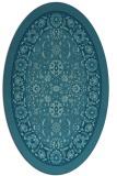 rug #1305231 | oval blue-green natural rug