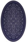 rug #1305247 | oval blue-violet borders rug