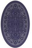 rug #1305251 | oval blue-violet borders rug
