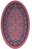 rug #1305255 | oval pink natural rug