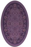 rug #1305259   oval purple borders rug