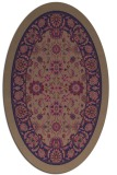 rug #1305267 | oval beige damask rug
