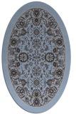 rug #1305271 | oval blue-violet traditional rug