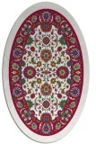 rug #1305279 | oval red traditional rug