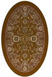 rug #1305315 | oval mid-brown natural rug