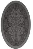rug #1305319   oval brown damask rug