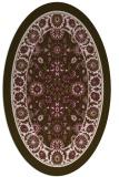 rug #1305326 | oval damask rug
