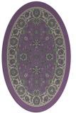 rug #1305351 | oval beige traditional rug