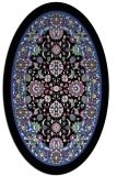 rug #1305367 | oval black traditional rug