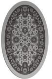 rug #1305387 | oval red-orange borders rug