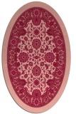 rug #1305399 | oval pink popular rug