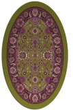 rug #1305411 | oval green borders rug