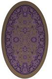 rug #1305415 | oval purple borders rug