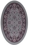 rug #1305419   oval purple borders rug