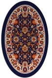 rug #1305426 | oval damask rug