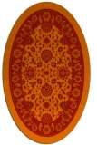 rug #1305427 | oval red traditional rug