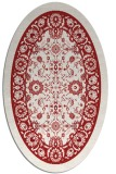 rug #1305431 | oval red damask rug