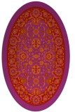rug #1305435 | oval red damask rug