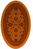 rug #1305439 | oval red-orange damask rug