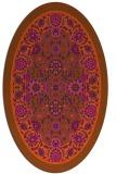 rug #1305448 | oval damask rug