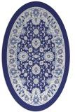 rug #1305463 | oval blue borders rug