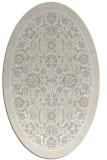 rug #1305471 | oval beige natural rug