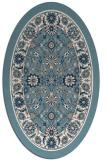 rug #1305475 | oval white rug