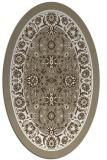 rug #1305479 | oval white borders rug