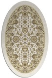 rug #1305487 | oval white natural rug