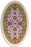 rug #1305491 | oval yellow traditional rug