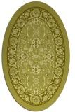 rug #1305503 | oval light-green borders rug