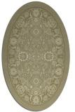 rug #1305507 | oval light-green borders rug
