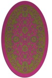 rug #1305511 | oval light-green rug