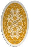 rug #1305519 | oval light-orange damask rug
